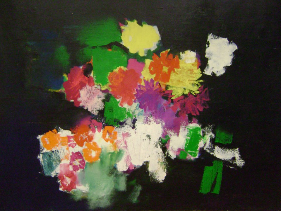 Flori - lucrare datata 1970